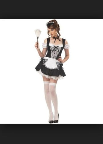 French Kiss Deluxe French Maid Plus Size Costume - 2XL 14-16