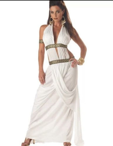 Womens Spartan Queen Princess Goddness Adult Halloween Costume Large 10-12
