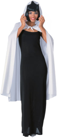 "Robe / Cape Hooded White 78"" Cape"