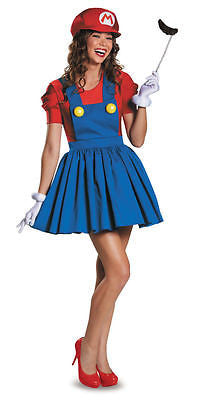 Mario Skirt Version ADULT Womens Costume NEW Super Mario Bros - LG