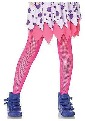 Child Tights / Stockings Neon Pink Fishnet - Leg Avenue Echanted Costumes