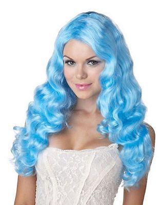 Wig Confections Blue Eye Candy Sweet Tart California Costume Wig