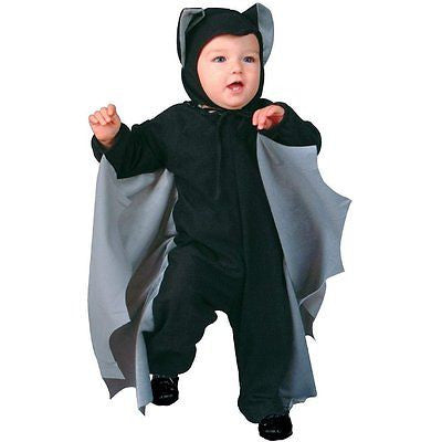 Infant Cute-T-Bat Costume - Bat Costume - Gray Grey / Black Wings 1-2
