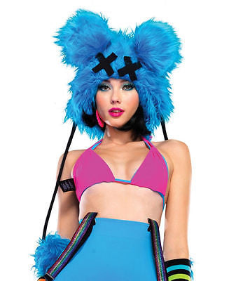 Dead Mouse Furry Hood - RAVE - Great for Electronic Daisy Carnival in Las Vegas