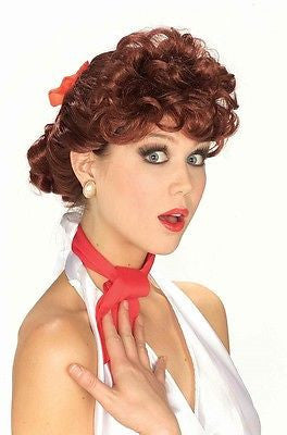 Wig 50's Housewife Auburn Wig - I Love Lucy Inspired - Pin Up Wig