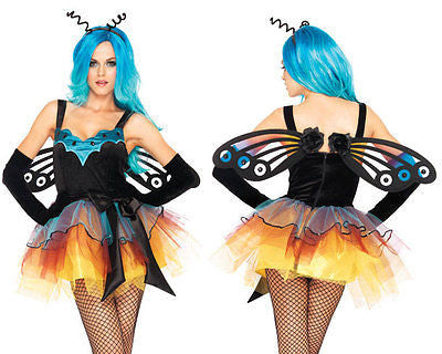 Sexy Womens Leg Avenue BUTTERFLY FAIRY Play Costume Fancy Dress - SM/MD