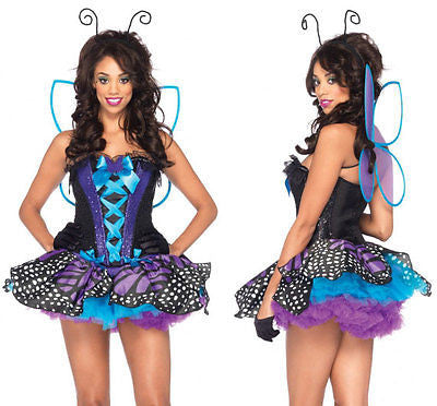 Leg Avenue Emperor Butterfly Costume 85090LEG Black/Purple
