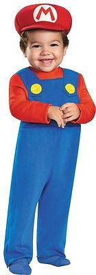 Mario Infant Nintendo Super Brothers Fancy Dress Halloween Toddler Child Costume
