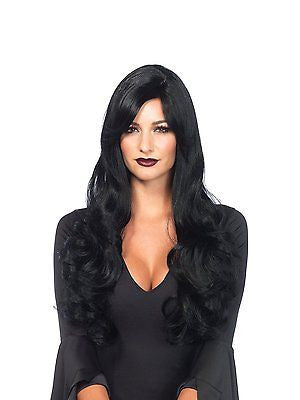 Wig Leg Ave Long Wavy Black Adult Wig