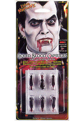 FX Make Up Blood Capsules for your Mouth, Bite Down for Vampire Effect!