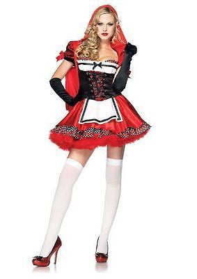 Hot Sexy Divine Miss Red Riding Hood Women's Adult Halloween Costume Large