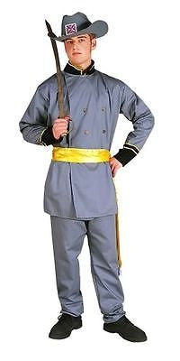 CONFEDERATE ADULT COSTUME CIVIL WAR SOLDIER GENERAL CAPTAIN LEE UNIFORM 80068