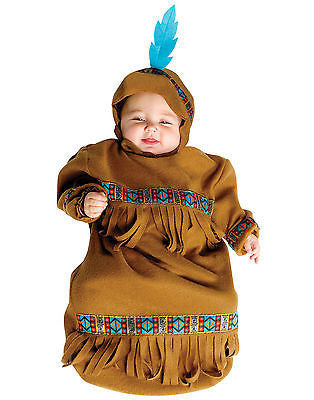Papoose Native American Baby Bunting Indian Boy First  Costume 6-9 Mths