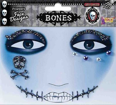 Tattoos Bones Glitter Face Design Make Up Costume Tattoo Art