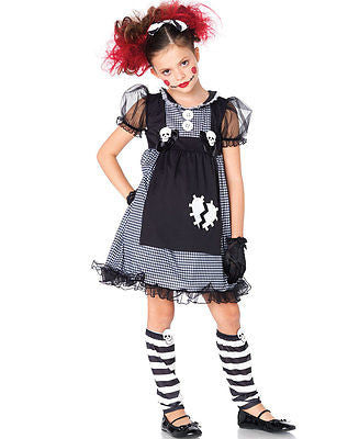 Dark Dollie Halloween Costume - Enchanted Costumes Doll Child Size - Medium 7-10