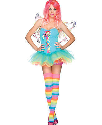 Leg Avenue Costumes 83917 - 3 PC. Rainbow Fairy Costume / RAVE Costume