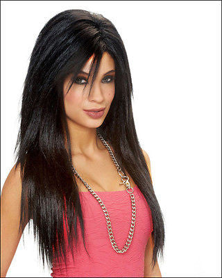 Wig Leg Ave Sleek Black Deluxe Adult Wig  by Michele's Collection