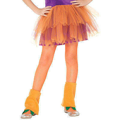 Child Tights / Stockings Neon Orange - Leg Avenue Echanted Costumes