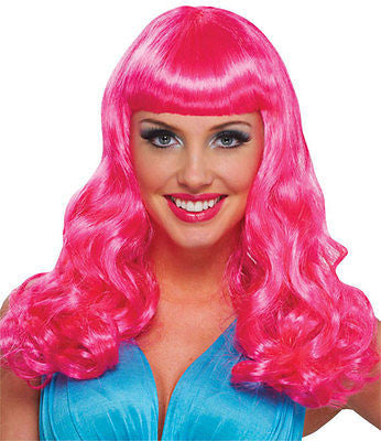 Pink Party Girl Wig - 80's wig - Franco Costume Collection - NEW