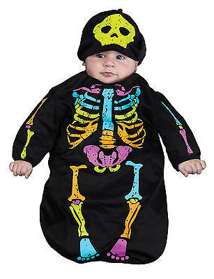 Skele-Baby Skeleton Bunting Costume - Up to 9mo - Skellington Baby Costume