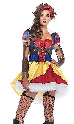 Disney Rebel Snow White Fairy Tale Storybook Princess Adult Leg Ave Costume