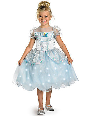 Disney Cinderella Costume Girls Medium -  Light Up Dress Fancy Princess Costume