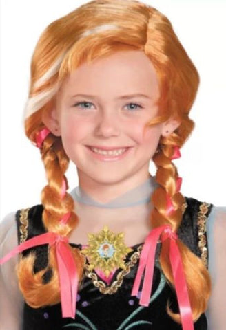 Anna Disney Frozen Movie Child Princess Costume Wig