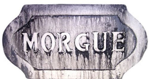 Halloween Sign Wall Hanging Decor Morgue Sign