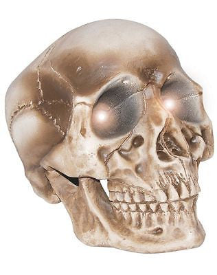 Light Up Giant Skull Skeleton Halloween Prop Decoration Decor - PICK UP ONLY