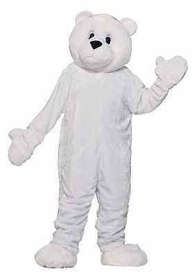 Adult Unisex White POLAR BEAR MASCOT PARADE Costume