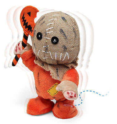 ANIMATED TRICK r TREAT SAM HALLOWEEN FIGURE - CREEPY MUSIC - WALKS - HORROR PROP