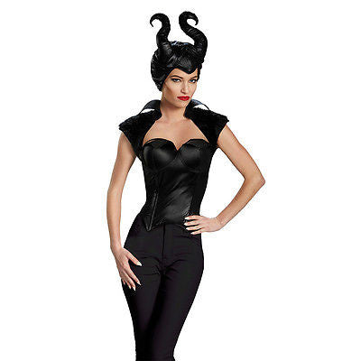 Adult Disney Villain Movie Maleficent Dark Evil Mistress Fairy Costume Bustier