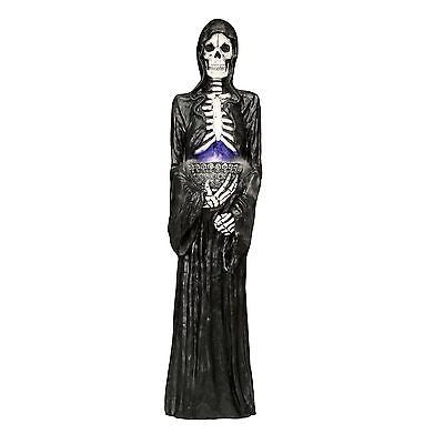 5' RESIN MISTING REAPER HALLOWEEN PROP NIB - SCARY PROP - PICK UP ONLY