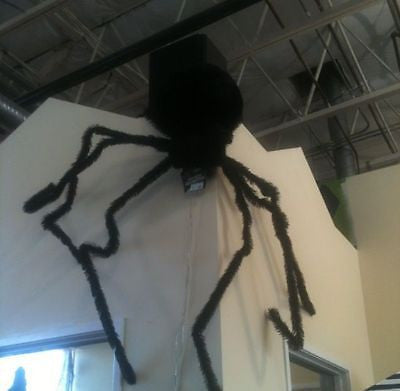 Black Light-Up Eyes Long Haired Spider - Approx. 8 ft