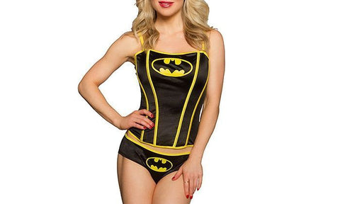 Bat Girl Corset Adult Female Halloween Fancy Dress - SM/MD