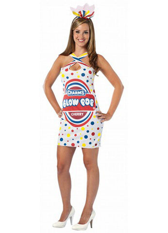 Adult Charms Blow Pop Dress Costume Rasta Imposta 3998