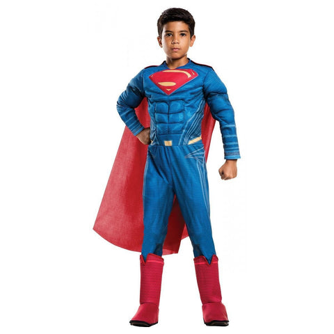 Deluxe Superman Costume Batman v Superman Halloween Fancy Dress