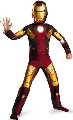 Boys Child Marvel The Avengers Iron Man Mark VII Costume Outfit W/ Mask Large