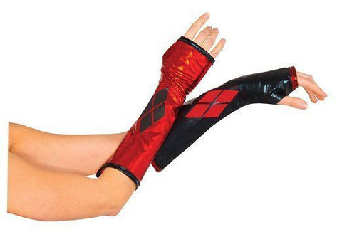 Harley Quinn Gauntlets Gloves ADULT Costume Accessory NEW