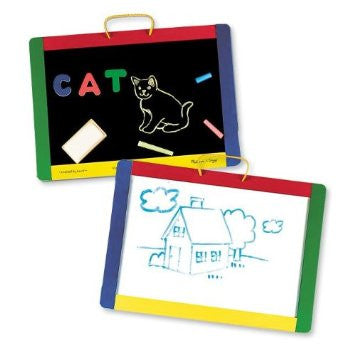 Melissa & Doug® Magnetic Chalk and Dry Erase Board