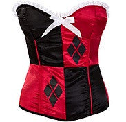 Costume Accessory Corset Harley Quinn Bustier - Batman Corset Women's Costume Accessory