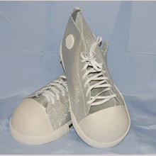 Costume Accessory Clown Silver Shoes