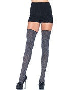 Hosiery Leg Ave Adult Thigh High Heather RIb Knit