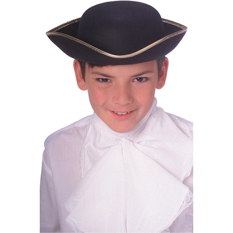 Hat Colonial Durashape Tricorn Black Child Hat