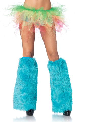 Costume Accessory Leg Warmers Turquoise