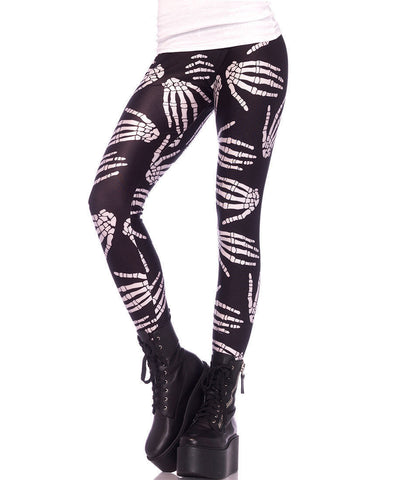Leggings Boney Hands Skeleton Print