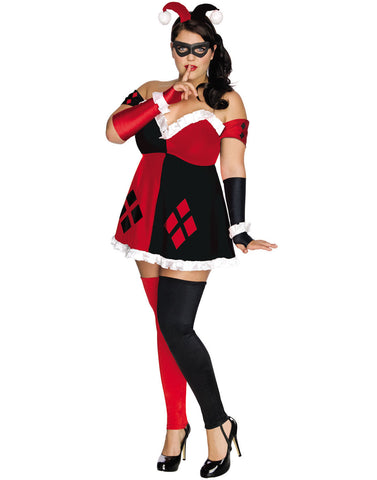 Women's Costume Plus Size Harley Quinn DC Comics Super Villans Costume