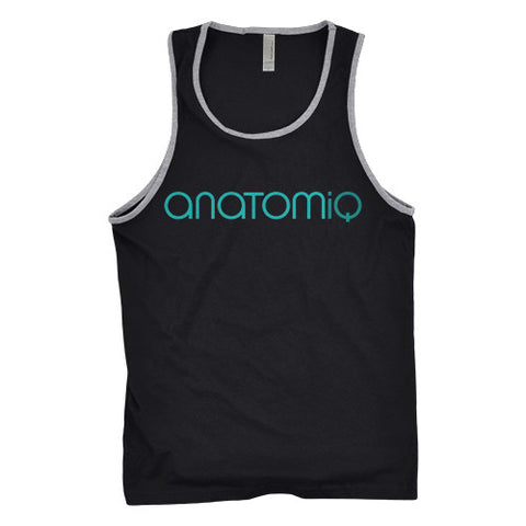 Men's Signature Tank - Black/Grey - Anatomiq  - 1