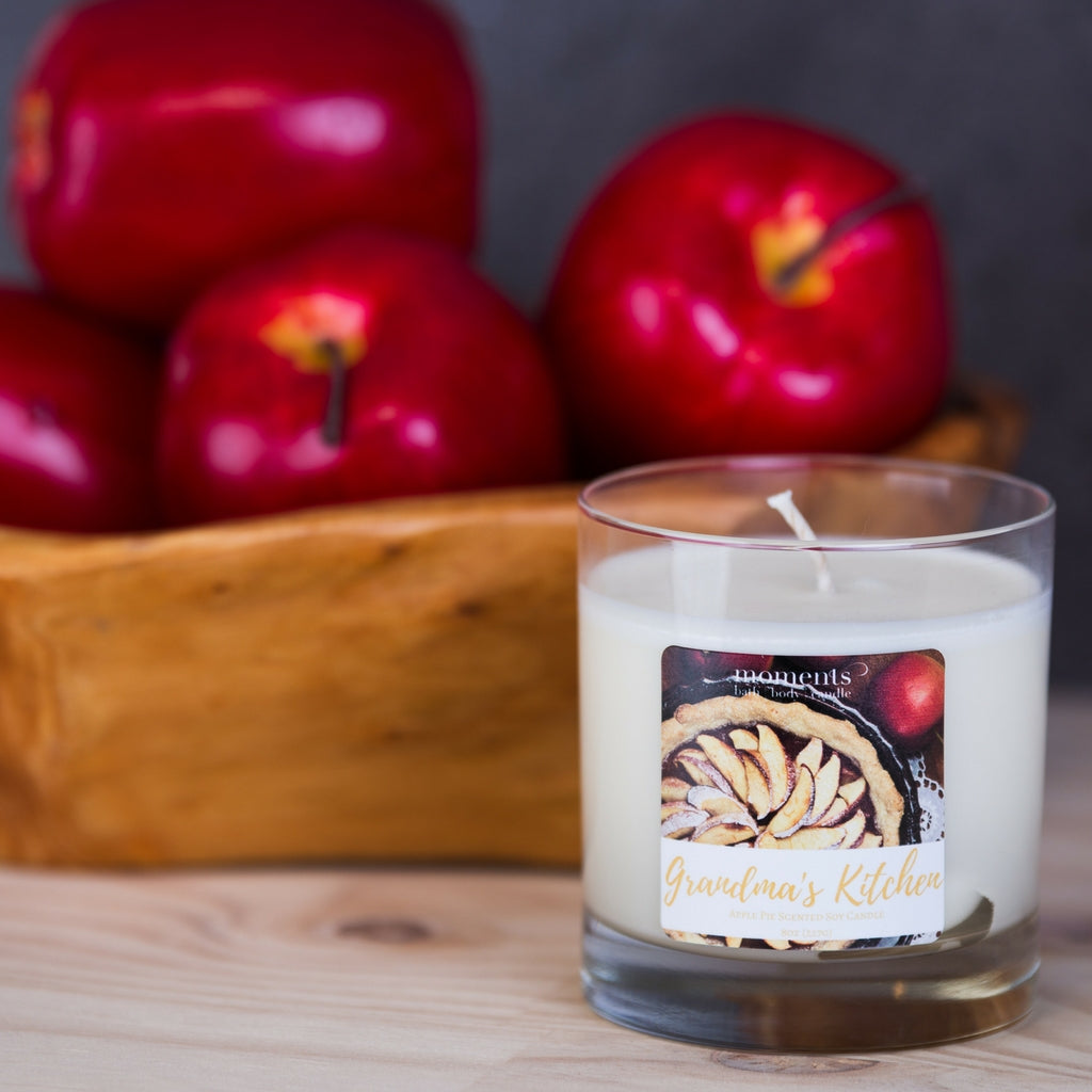 Grandma's Kitchen Apple Pie Scented Soy Candle - Hero