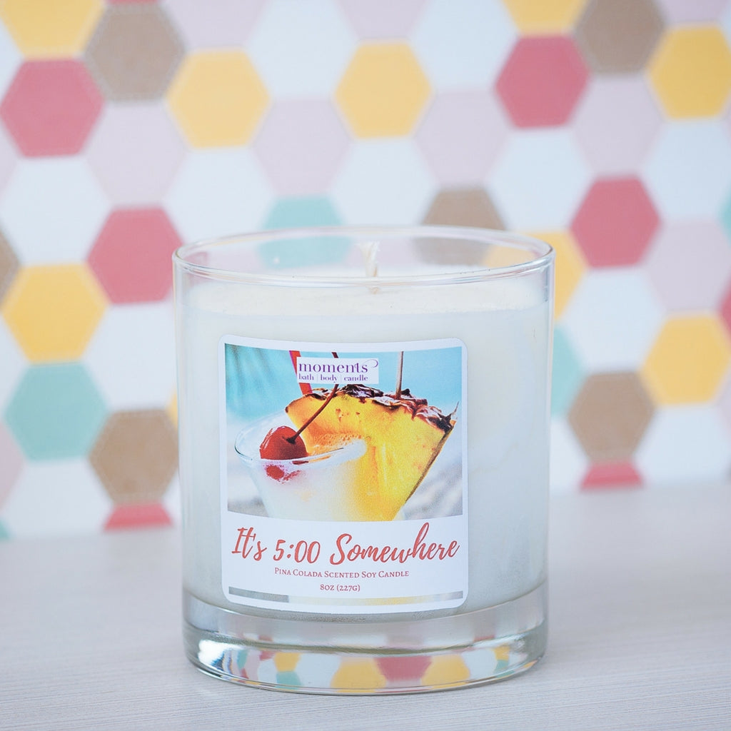 It's 5:00 Somewhere Pina Colada Scented Soy Candle